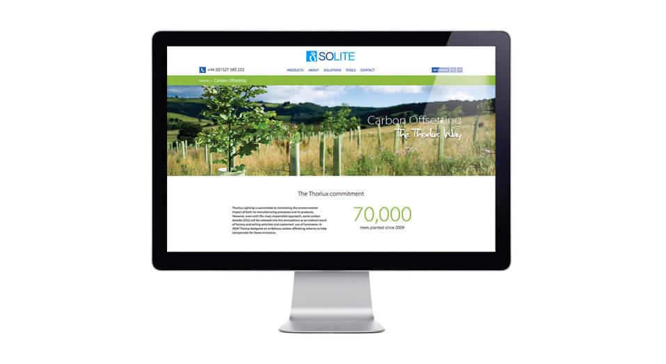 Solite Carbon Offsetting Website